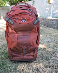Hybrid Backpack Rolling Luggage with Daypack.