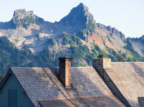 Tatoosh Peaks and Paradise Inn Chimneys