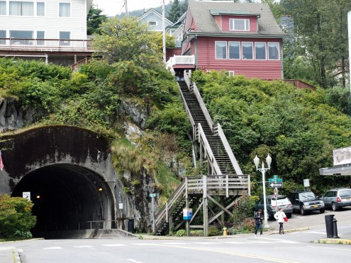 Tunnel and Stairs to Hilltop
