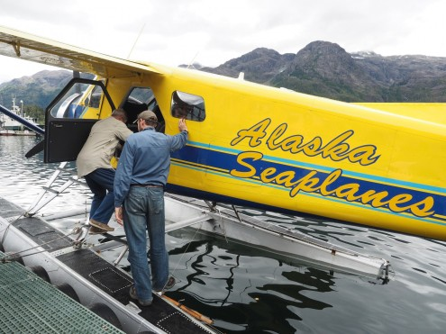 Boarding Alaska Seaplane bound for Pelican