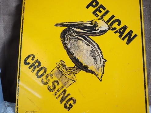 Pelican Crossing Sign