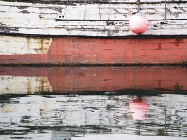 Wooden Boat Reflections