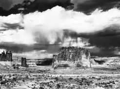 Arches National Park in Black and White