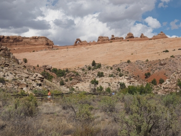 Delicate Arch in Background at Arches National Park