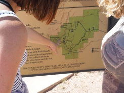 """You are Here"" at Natural Bridges"