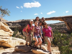 Family Group at Natural Bridges Monument Trail